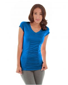 Iris Workout Top-M-Blue